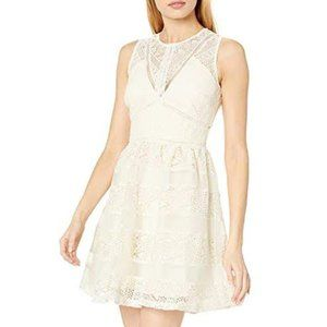 Adelyn Rae Ivory Lace Skater Dress